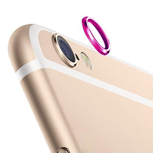 "KingMas Metal Rear Camera Lens Protector Cover Ring for iPhone 6 4.7"" (Rose)"