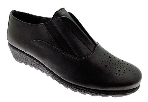 coincent 70271 Chaussures Cou Riposella Femmes Moccasin Noires pour à SAx1q