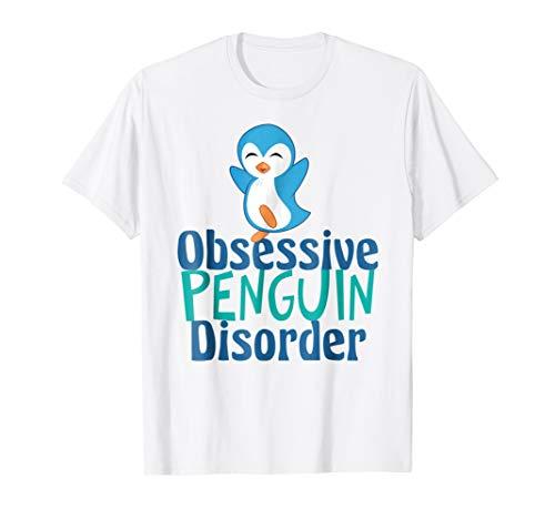 Funny Penguin T-Shirt - Obsessive Penguin Disorder ()