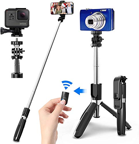 SIDRUM L02 Extendable Selfie Stick Tripod Stand for Mobile Phones and Gopro with Bluetooth Wireless Shutter Remote