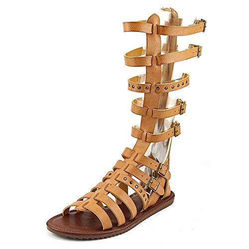 Sarita Womens Gladiator Toe Seven Casual Tan Open Dials Sandals 1Ewn5Oq