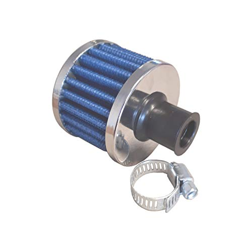 Air Filter Mini Blue 50 mm Sports Air Filter 12 mm Connection Housing Gearbox Air Filter: