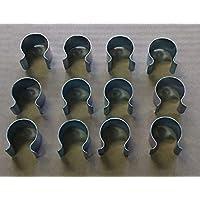 Culture-Serres Befestigungsclips aus Metall, 12 Stück 25 mm