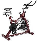 BH Fitness SB1.4 H9158 Bici da Allenamento Indoor a Frizione con Manubrio tipo Triathlon, Rossa