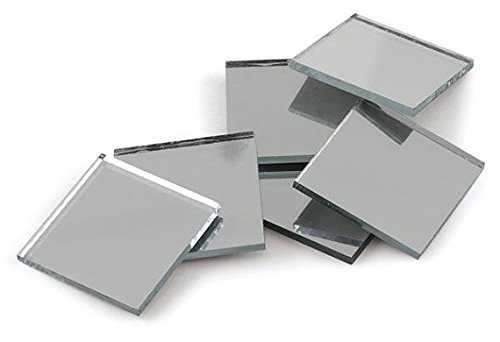 Better crafts Silver Coated Square 3'' Mirror Tiles - Can Be Used in Many Craft Projects, Decorations & Mosaics. (30) by Better crafts