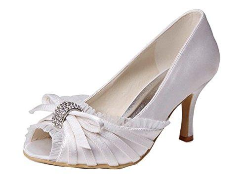 Beige Minitoo 8cm Ivory Femme Pour Escarpins Heel zz4xqAa