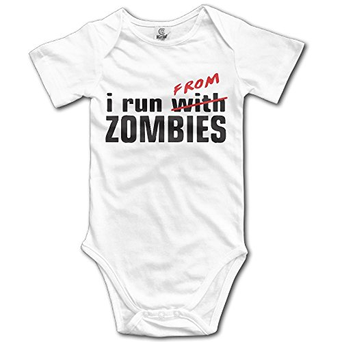 - SmallHan I Run from Zombies Apocalypse Unisex Classic Infant Romper Baby Girl Playsuit 12 Months White
