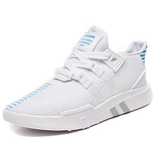 Zapatillas Deportivas Flyknit para Mujer, SEVENWELL Fashion Letter Stripe Printing Running Ejercicio Outdoor Sneakers Blanco
