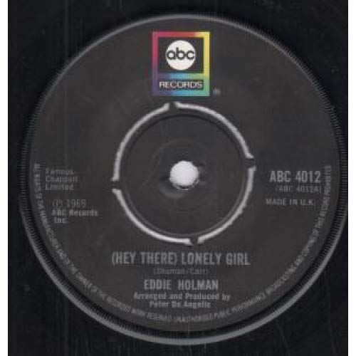 """Hey There Lonely Girl 7 Inch (7"""" Vinyl 45) UK Abc 1969, used for sale  Delivered anywhere in USA"""