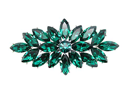 Faship Gorgeous Marquise Big Pin Brooch Emerald Color Green - Emerald