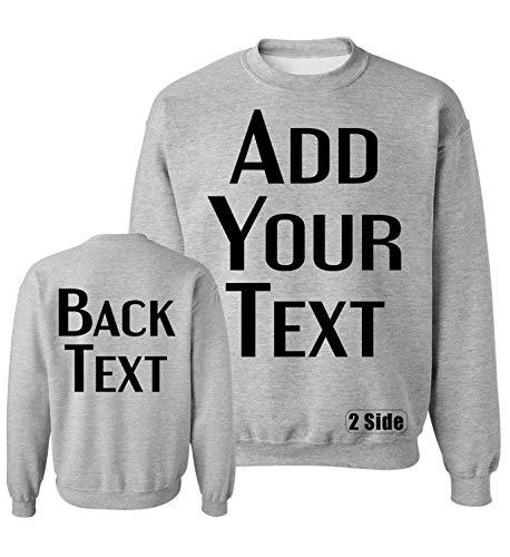 TEEAMORE Men Women Custom Crewneck Sweatshirts, Add Your Text, Team Name Number Sport - Sweatshirt Custom Crewneck