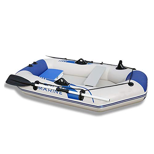 CVEUE OS Kayak Thickened Inflatable Boat Kayak 2/3/4 Person Motorboat Dinghy Fishing Boat Kayak Paddle Holder