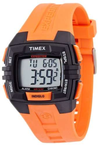 Timex Men's T499029J Expedition Full Size Chrono Alarm Timer Orange Watch -