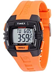 Timex Mens T499029J Expedition Full Size Chrono Alarm Timer Orange Watch