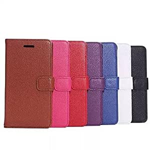 SHERRYLEE Litchi Grain PU Full Body Case with Card Slot for Samsung Galaxy Note 4 (Assorted Color) , Black