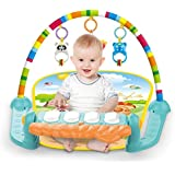 Tapete Atividades Infantil Com Arco e Piano Musical Boy Color Baby Verde