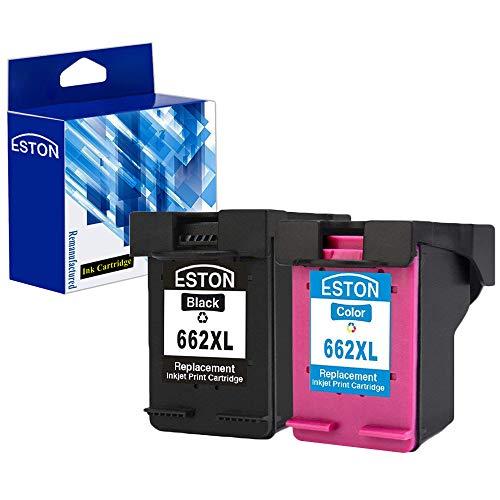 ESTON 2 Pack #662 XL Black/Color Ink for Deskjet Ink Advantage 1015 1515 2515 2545 2645 3515 3545 4645 (Hp 662)