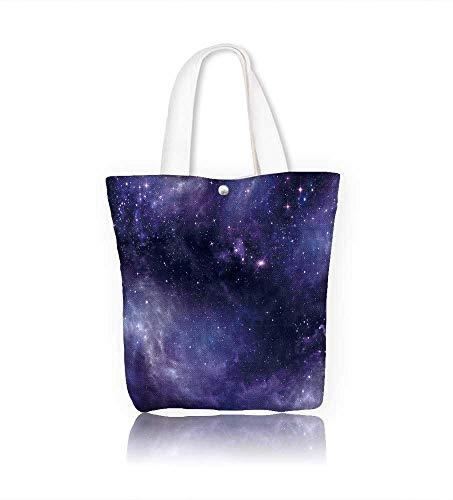 (canvas tote bagCiel étoilé dans l'e ouvert reusable canvas bag bulk for grocery,shopping W15xH14xD4.7 INCH)
