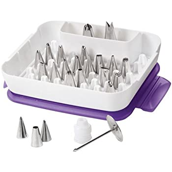 Wilton Deluxe Decorating Tip Set, 22-Piece Decorating Tips, 2104-2531