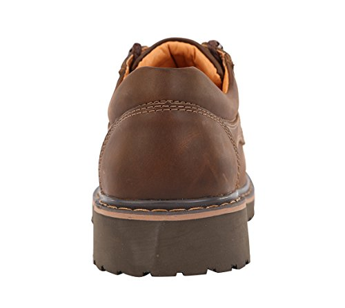 7 Ankle Oxfords Toe brown US Outdoor Boots Cashion up Mens Serene Leather B Shoes Round M Lace 2 q7An1p