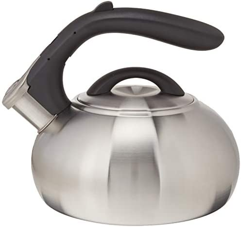 2qt Stainless Steel Whistling Teakettle Brushed Creative
