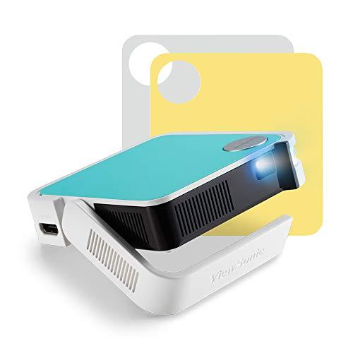 ViewSonic M1 Mini Plus – Proyector LED portátil (WVGA, 120 lúmenes, HDMI, Micro USB, conexión Wi-Fi, Bluetooth, Altavoz…