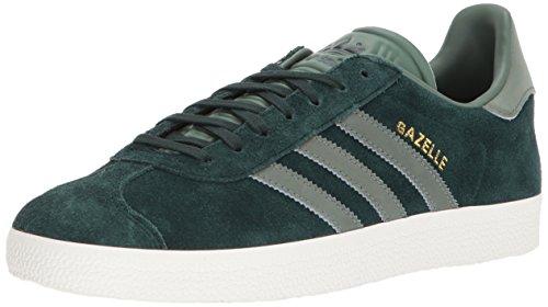 adidas Originals Gazelle Sneaker,Green Night/Trace Green/Metallic Gold,9.5 Medium US