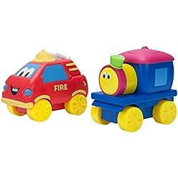 Bob The Train Push-N-Zoom Pals 2 Pack, Bob the Train & Fire Truck