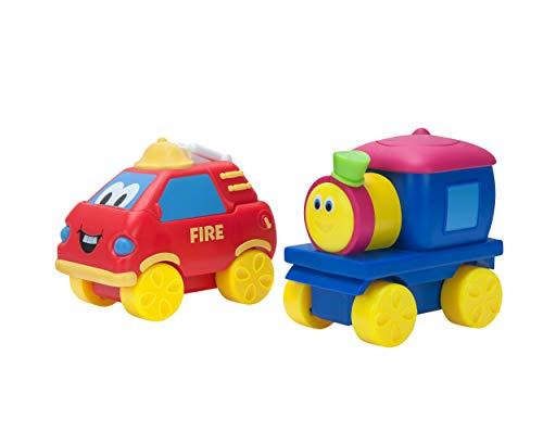 (Bob The Train Push-N-Zoom Pals 2 Pack, Bob the Train & Fire Truck)
