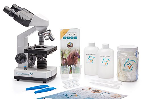 Professional Microscope Kit for Fecal Egg Count, by Eggzamin. Binocular Microscope and Accessories for Conducting Fecal Egg Count to Test Your Animals for parasites. Instructions