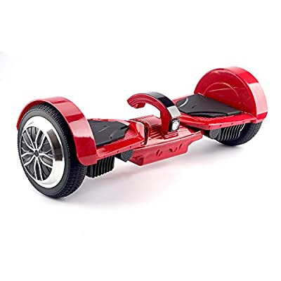 "UL2272 Certified Smart Self Balancing Hoverboard with Dual Mainboard Dual Bluetooth Speakers and Smart LED Light 7.5"" Wheels K5- Red by Dongguan Jomo Electronic Co Ltd"