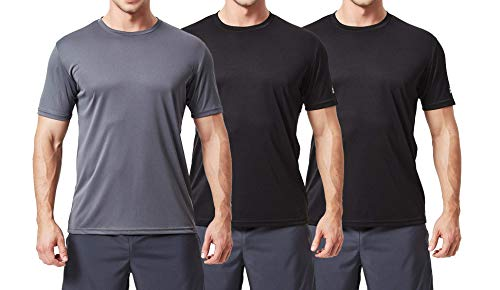 690e211e0dd82 TEXFIT Men's 3 Pack Active Sport Quick Dry T-Shirts (3 pcs Set)