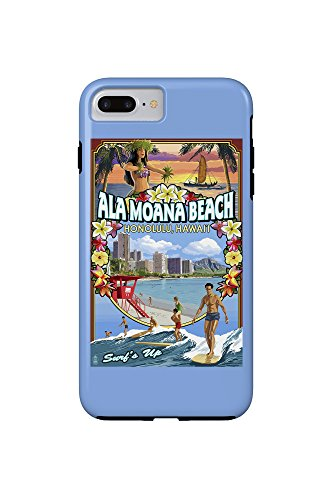 Ala Moana Beach - Honolulu, Hawai'i - Montage Scene (iPhone 7 Plus Cell Phone Case, - Hawaii Ala Moana