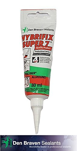 Hybrifix Super 7, Professional All Purpose Adhesive Sealant, CLEAR, 80ml (Tile Sealer Outdoor compare prices)