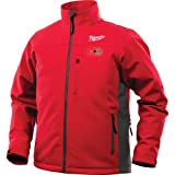 Milwaukee Jacket M12 12V Lithium-Ion Heated Front and Back Heat Zones All Sizes and Colors - Battery Not Included - (Large, Red)