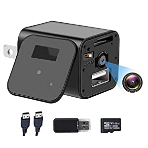 Flashandfocus.com 41o2SxkV4VL._SS300_ 1080P Hidden Camera Charger with 32GB SD Card, Full HD Camera, Mini Nanny Cam with Motion Activation, No WiFi…