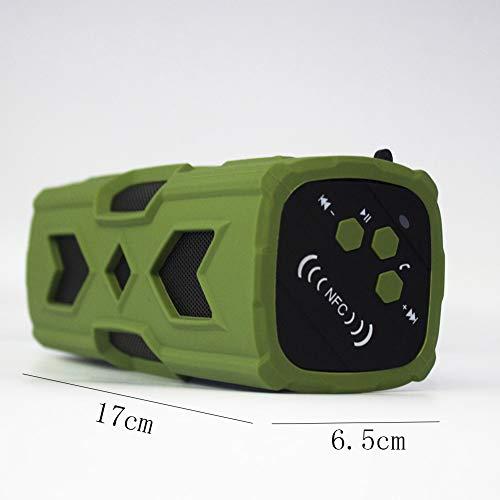 Feng Altavoz Bluetooth Impermeable Al Aire Libre Senderismo Altavoz De Equitación Altavoz Inalámbrico Bluetooth Altavoz Subwoofer (Color : Green): ...