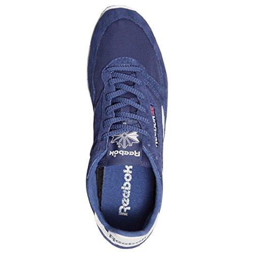 Reebok Zapatillas de cuero y tela para hombre Azul azul marino