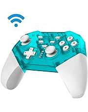 JFUNE Manette Switch Pro, Manette pour Nintendo Switch, sans Fil Switch Contrôleur Bluetooth Switch Gamepad Controller (Nouvelle Version)