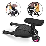 ELATOPS Children's Stroller Wheeled Board Auxiliary Pedal Trailer Baby Standing Plate Sitting Seat