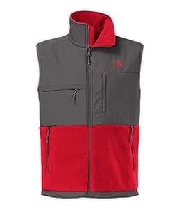 The North Face Men's Denali Vest Rage Red/Vanadis Grey Small