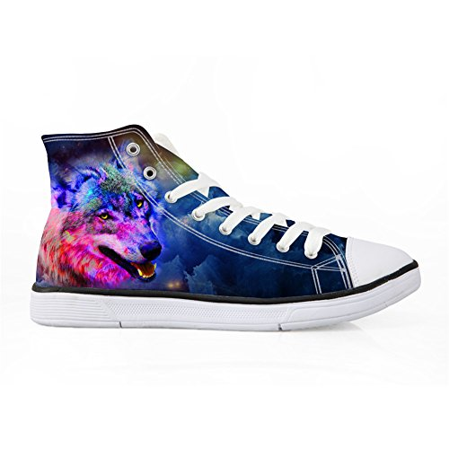Top Shoes Wolf 5 Canvas Wolf Bigcardesigns Fashion Casual High Sneakers Galaxy 0zU1X
