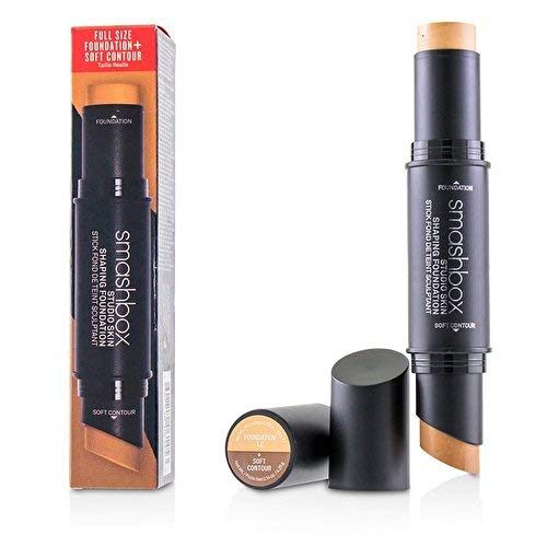 Smashbox Studio Skin Shaping Foundation Stick - 1-2 Light Neutral Beige Plus Soft Contour By Smashbox for Women - 2 Pc 0.26oz Foundation, 0.14oz Soft Contour, 2 Count