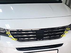 Serpentinas laterales cromadas para parrilla delantera de acero inoxidable para el polvo 2 piezas 2018+