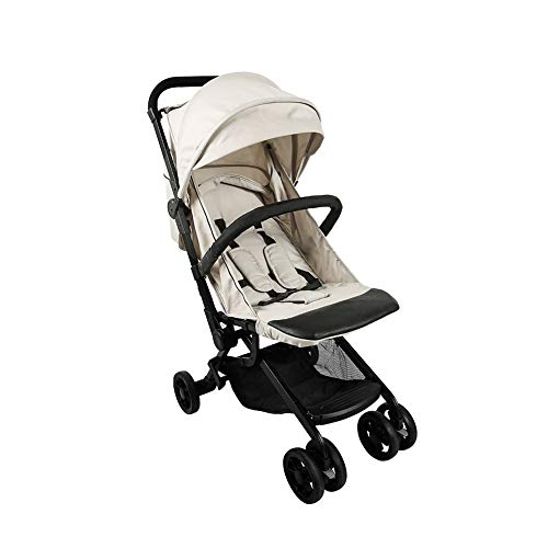 Baby Strollers Lightweight Strollers with 5-Point Safety System and Multi-Positon Reclining Seat for Infant Convertible Baby Carriage,One Step Design for Opening & Folding (Khaki)