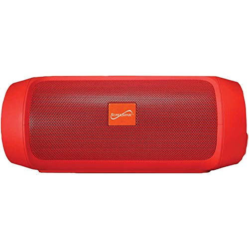 7-Inch Portable Bluetooth Rechargeable Speaker (Red)