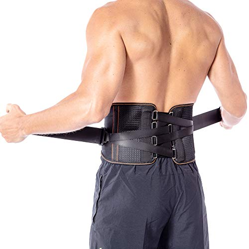 Back Braces for Lower Back Pain with Pulley System for Women and Men - Lumbar Support Belt for Herniated Disc, Sciatica, Scoliosis, Spinal Stenosis - Adjustable Straps and Breathable Mesh (M) ()