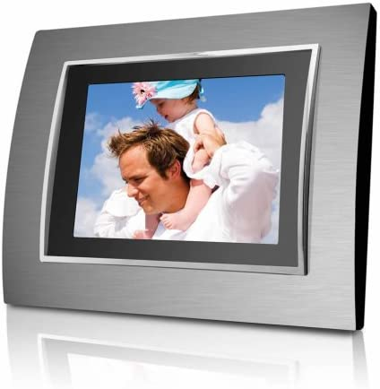 Coby DP-767 7-Inch Widescreen Digital Photo Frame with Multimedia Player Includes 2 Metal Frames