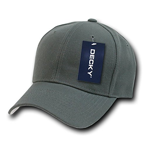 DECKY Fitted Cap, Charcoal, 7 5/8