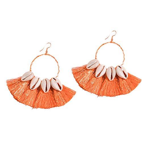 (Cathy Clara Bohemian Ethnic Style Creative Golden Silk Tassel Metal Earrings Ladies Jewelry Creative Earrings Ladies Jewelry for Women Sterling Hoop)